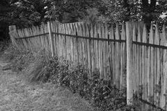 Leaning Fence Royalty Free Stock Photography