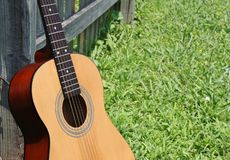 Leaning Guitar Royalty Free Stock Photo