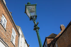 Leaning Lamp Post on Steep Hill in Lincoln Royalty Free Stock Photography