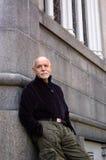 leaning man older Στοκ Φωτογραφίες