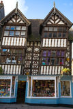 Leaning streetfront tudor shops Royalty Free Stock Photos