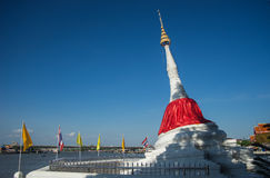 The leaning stupa Stock Photography