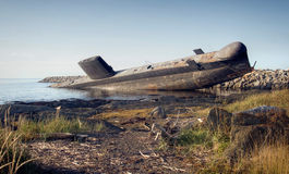The Leaning Submarine Stock Images