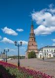 Leaning Suyumbike tower, Kazan Kremlin, Tatarstan, Russia Royalty Free Stock Photos