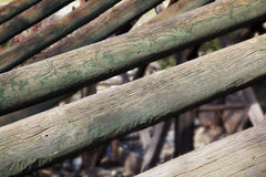 Leaning timber Royalty Free Stock Photo