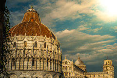 Leaning tower, Baptistery and Duomo, Piazza dei Royalty Free Stock Photos