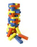 Leaning Tower of Blocks Royalty Free Stock Photo