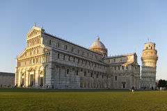 Leaning tower and cathedral from Pisa Royalty Free Stock Images