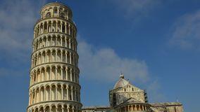 Leaning tower and cathedral, Pisa, Italy απόθεμα βίντεο