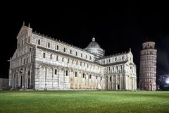 The Leaning Tower and Cathedral in Pisa royalty free stock images