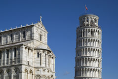 The Leaning Tower and Cathedral of Pisa Stock Photo