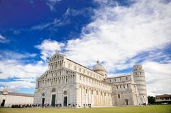 Leaning tower and Cathedral of Pisa, Italy Stock Photography