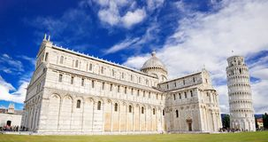 Leaning tower and Cathedral of Pisa, Italy Royalty Free Stock Photo