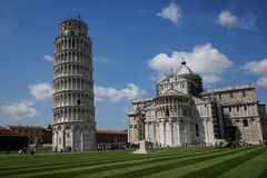 Leaning tower and Cathedral of Pisa, Tuscany - Italy Royalty Free Stock Images