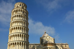 Leaning Tower and Cathedral of Santa Maria Assunta in Piazza dei Miracoli also known as Piazza del Duomo, Pisa, Italy stock photography