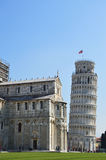 Leaning Tower and Cathedral of Santa Maria Assunta in Piazza dei Miracoli also known as Piazza del Duomo, Pisa, Italy Stock Photo