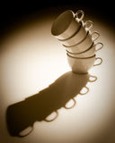 Leaning Tower of Cups Stock Photography