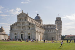 Leaning tower and Duomo, Piazza dei Miracoli, Pisa, Italy Stock Images