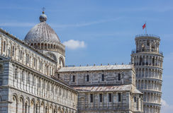 Leaning tower and Duomo of Pisa Stock Images