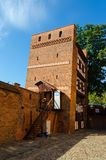 The Leaning Tower (Krzywa Wieza) in Torun, Poland. royalty free stock photo