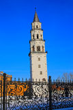 Leaning Tower Nevyansk winter. Russia Royalty Free Stock Photography