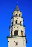 Leaning Tower Nevyansk winter. Russia Stock Photo