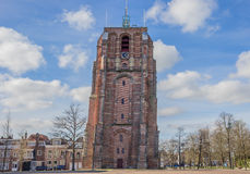Leaning tower Oldehove in Leeuwarden Stock Photos