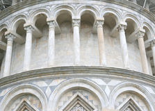 Leaning tower of pisa. Detail of the leaning tower of pisa in tuscany, italy Royalty Free Stock Photos