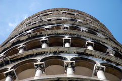 The Leaning Tower of Pisa. Italy royalty free stock photo