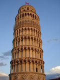 Leaning Tower Of Pisa. A view of the leaning tower of Pisa in Italy as seen in the late afternoon as the sun was setting Stock Photography