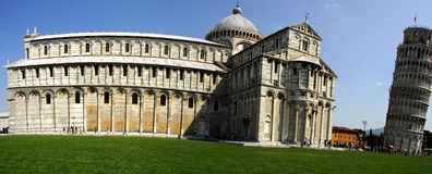 Leaning tower of pisa. The Campo dei Miracoli (Field of Miracles),The Duomo and the Leaning Tower of Pisa, Italy Stock Image