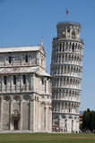 Leaning Tower of Pisa. Next to cathedral, Tuscany, Italy Stock Photos