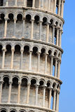 Leaning Tower of Pisa. Architecture details of the famous Leaning Tower of Pisa Stock Photos