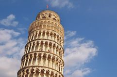 Leaning tower of Pisa. The famous leaning tower of Pisa, in Pisa, Italy Royalty Free Stock Photos