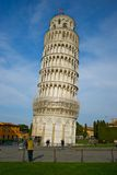 Leaning Tower of Pisa. Exterior of Leaning Tower of Pisa, Tuscany, Italy Royalty Free Stock Photo