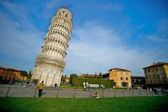 Leaning Tower of Pisa. The leaning tower of Pisa in Italy Royalty Free Stock Photos
