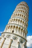 Leaning tower of Pisa aon blue sky background, Tuscany Italy. Leaning tower of Pisa aon blue sky background, Tuscany, Italy Stock Images