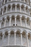 The Leaning Tower of Pisa architectural details Royalty Free Stock Photography