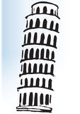 Leaning Tower of Pisa Art. A sketch of The Leaning Tower of Pisa Royalty Free Stock Photo
