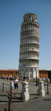 LEANING TOWER OF PISA,ON A BEAUTIFUL DAY IN PISA, ITALY Royalty Free Stock Image