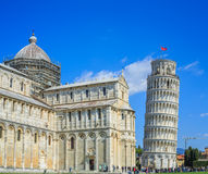 Leaning Tower of Pisa is the campanile, or freestanding bell tower, of the cathedral of the Italian city of Pisa, known worldwide Stock Images