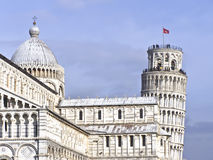 Leaning tower of pisa and cathedral. Italy royalty free stock image