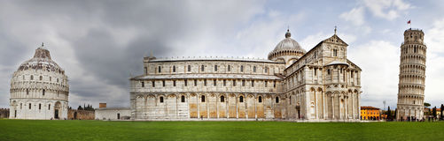 Leaning Tower of Pisa, Cathedral and Duomo Royalty Free Stock Photo