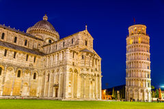 The Leaning Tower of Pisa and the Cathedral Stock Image