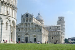 Leaning Tower of Pisa in Cathedral Square,Pisa Stock Photo