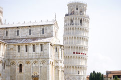 Leaning tower of Pisa and Cathedral, Tuscany, Italy Stock Image