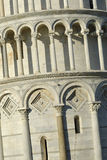 Leaning Tower of Pisa. A close-up of the Leaning Tower of Pisa Stock Photos
