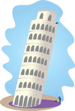 Leaning tower of Pisa. Constant acceleration due to gravity Royalty Free Stock Photos