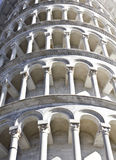 Leaning Tower of Pisa.Detail fasade Royalty Free Stock Image