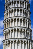 The Leaning Tower Of Pisa (Detail). This is a photo of the famous Leaning Tower Of Pisa (detail of the decoration elements Royalty Free Stock Photos